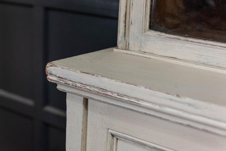 English 19th Century Large Oak Painted Glazed Bookcase For Sale 7