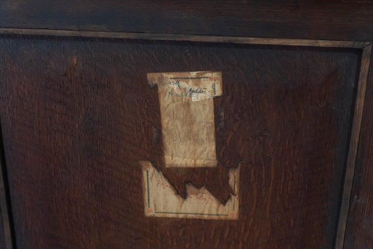English 19th Century Large Oak Painted Glazed Bookcase For Sale 9