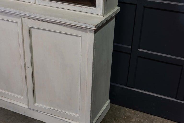 English 19th Century Large Oak Painted Glazed Bookcase For Sale 4