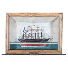 English 19thC Ship Diorama
