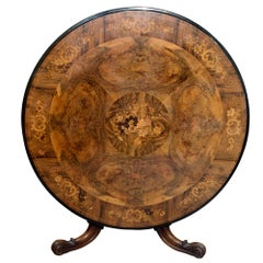 English 19th Century Walnut Breakfast Table