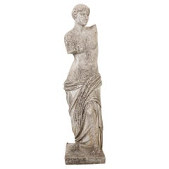 English 20th Century Carved Stone Statue of Venus de Milo