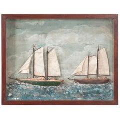 English 20th Century Framed Nautical Diorama