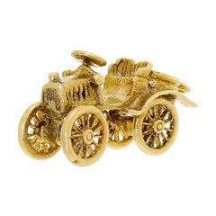 English 9 Karat Solid Gold Articulated Car Charm Petite 3.5 Gram 9 Carat / 375