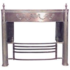 English Adam Style '19th Century' Brass Fireplace Mantel