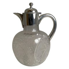"English Aesthetic Movement ""Dimple"" Claret Jug"