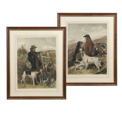 English and Scottish Gamekeepers by Andsell Richard, 19th Century Engraving