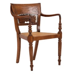 English Anglo-Indian Teak Arm Chair