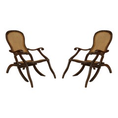 English Anglo-Indian Walnut Arm Chairs