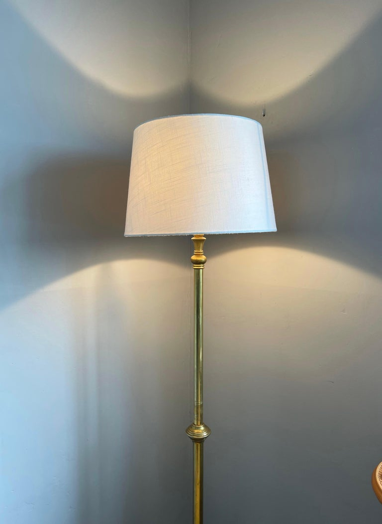 Hand-Crafted W.A.S. Benson, Antique and Stylish Arts & Crafts Floor Lamp in Bronze circa 1880 For Sale