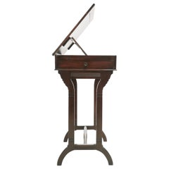 English Antique Architects Mahogany Table