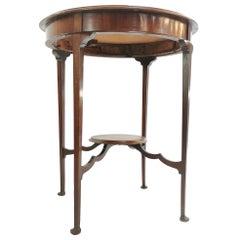 English Antique Edwardian Mahogany Circular Side Occasional Table
