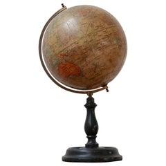English Antique 'Geographia' Desk/Shelf Terrestrial Globe
