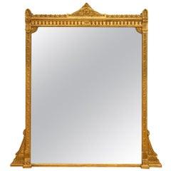 English Antique Gilded Overmantel Mirror