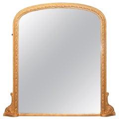 English Antique Giltwood Mirror, circa 1890