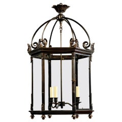 English Antique Lantern, Bronze