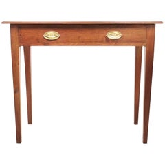 English Antique Mahogany 19th Century Side Table Writing Desk