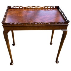 English Antique Rectangle Satinwood Side Table