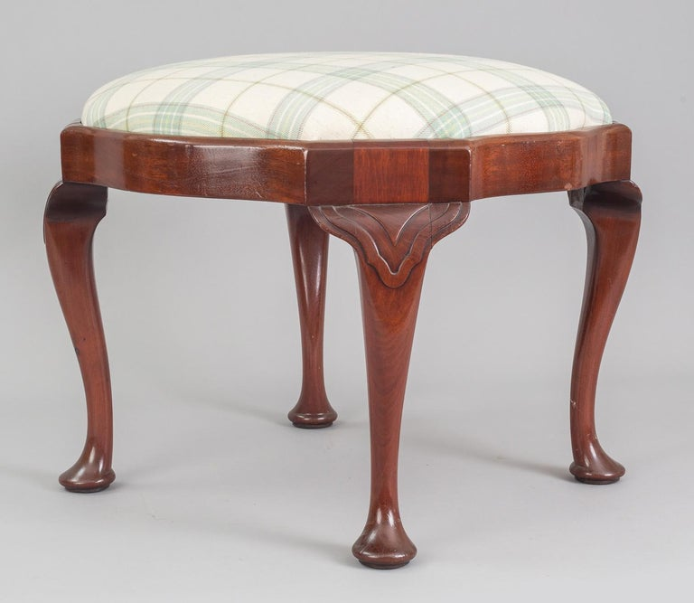 Late 19th Century English Antique Victorian Mahogany Stool For Sale
