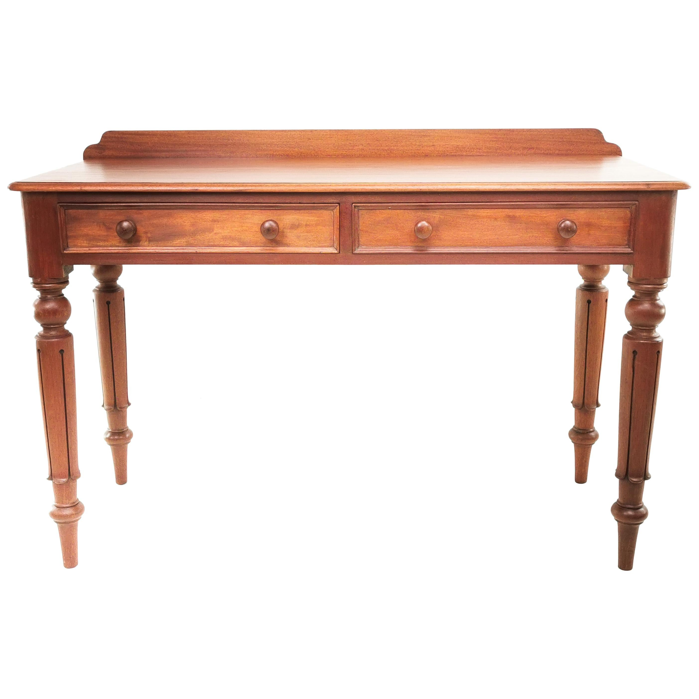 English Antique Victorian Mahogany Writing Desk