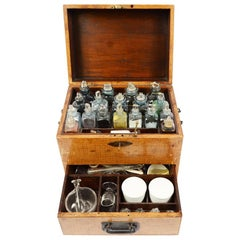 English Apothecary Cabinet, End of the 19th Century