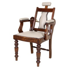 English Armchair Edwardian Barbers Chairs Carved Mahogany