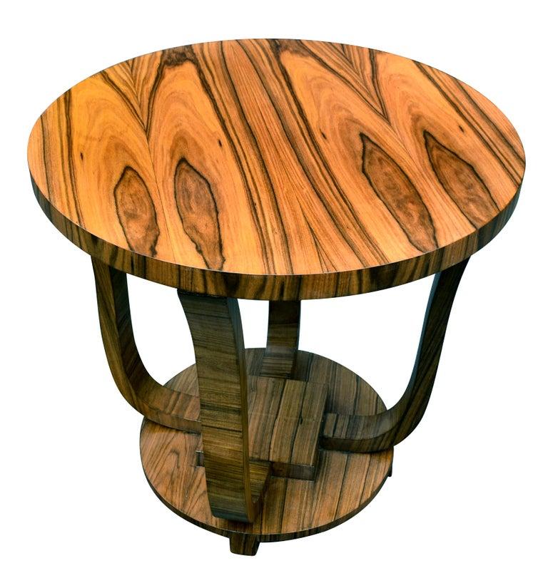 20th Century English Art Deco Centre Table in Figured Walnut, circa 1930 For Sale