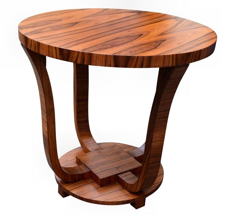 English Art Deco Centre Table in Figured Walnut, circa 1930 For Sale 2