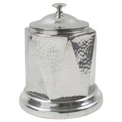 English Art Deco Pewter Tea Caddy Box