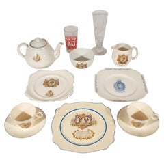 English Art Deco Royal Commemorative Porcelain Coronation Set