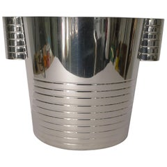 English Art Deco Silver Plated Wine Cooler or Champagne Bucket, circa 1930