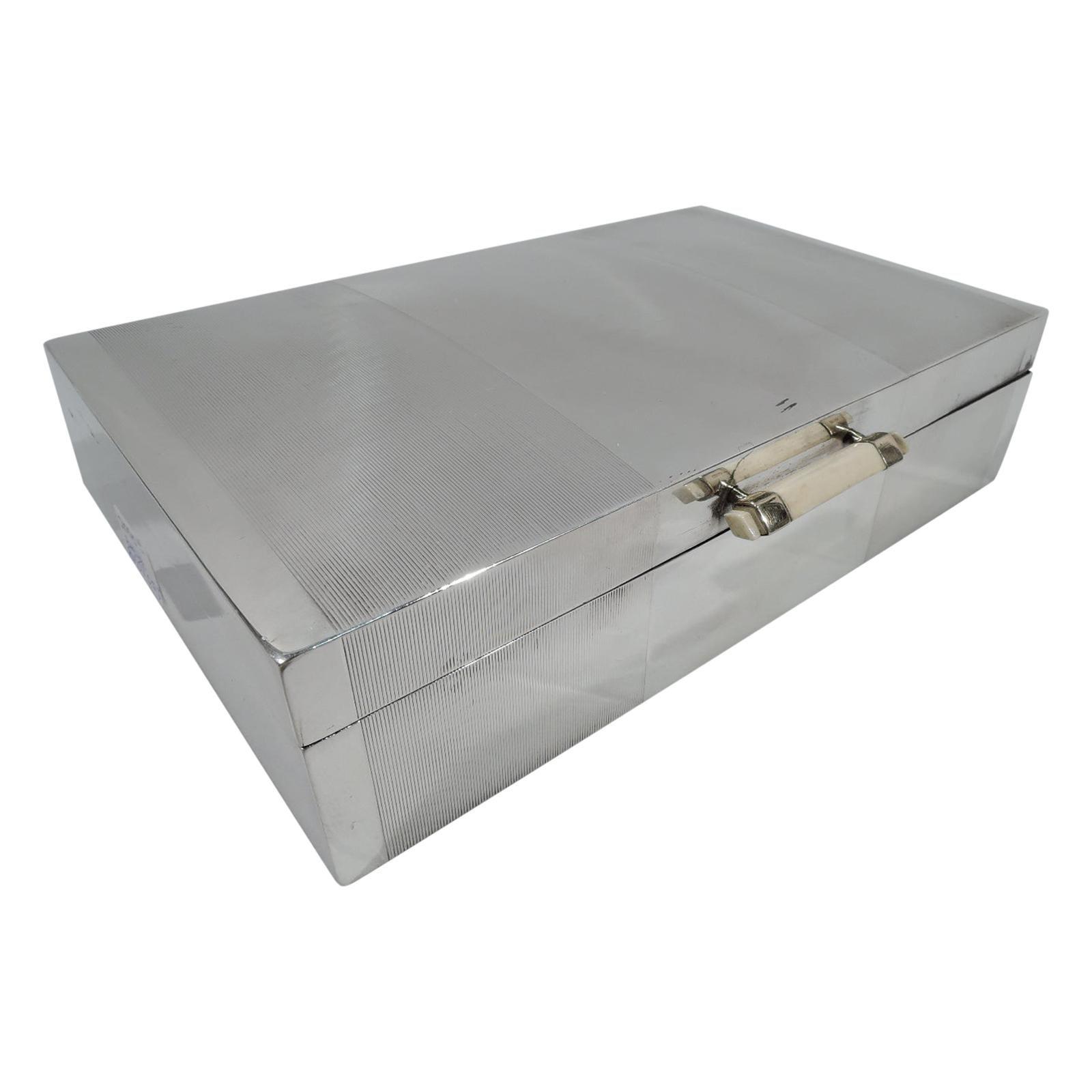 English Art Deco Sterling Silver Box