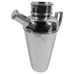 English Art Deco Sterling Silver Cocktail Shaker by Mappin & Webb