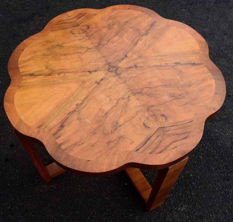 20th Century Art Deco Nest of Tables By Harry & Lou Epstein Burr Walnut English 1930's For Sale