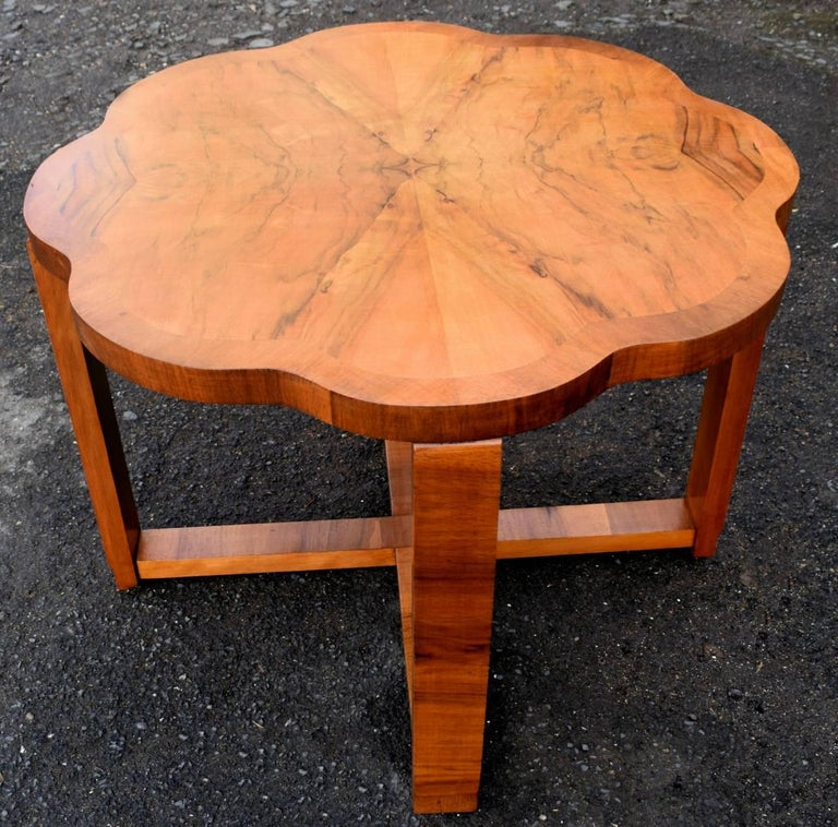 Art Deco Nest of Tables By Harry & Lou Epstein Burr Walnut English 1930's For Sale 2