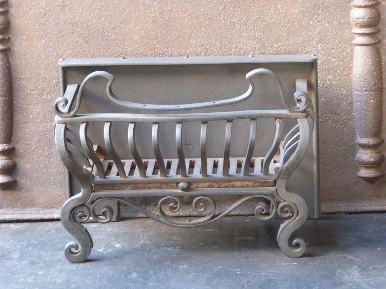 English Art Nouveau Fireplace Grate Or Fire Basket For Sale At 1stdibs
