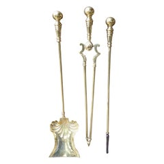 English Art Nouveau Fireplace Tools or Fire Tools, Early 20th Century