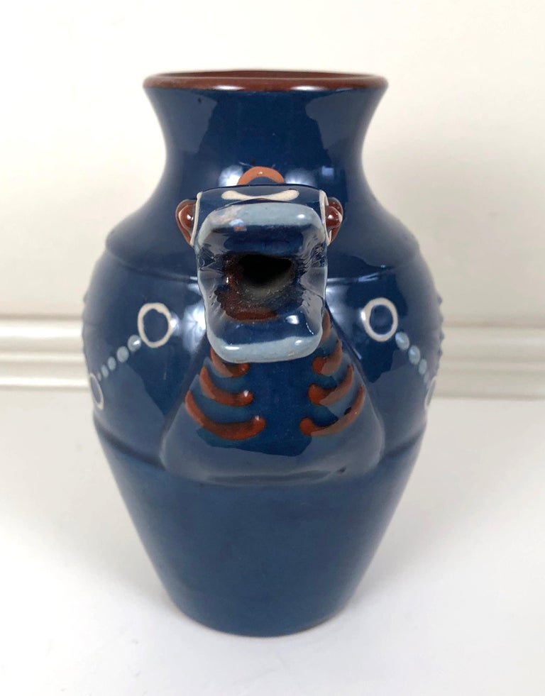 English Art Pottery Longpark Dragon Pitcher In Good Condition For Sale In Essex, MA