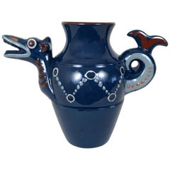 English Art Pottery Longpark Dragon Pitcher