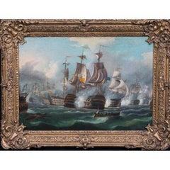 The Battle Of Trafalgar, 1805, 19th Century English School Napoleonic Wars