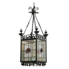 English Arts and Crafts Hanging Lantern