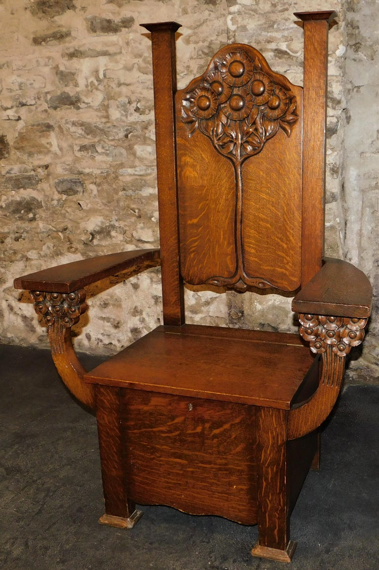 English Arts And Crafts Mission Chair Circa 1890 Tree Of