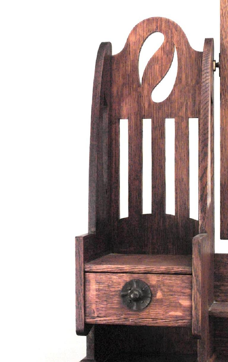 British English Arts and Crafts Oak Dresser For Sale