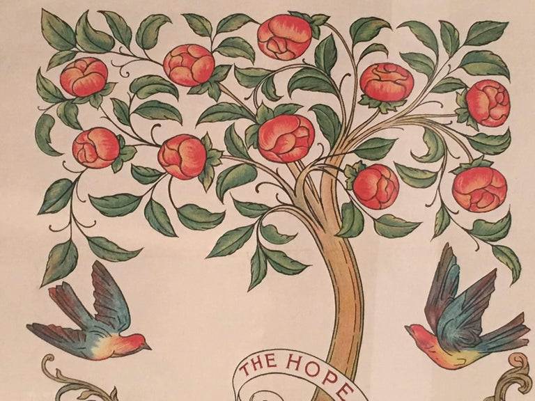 Arts and Crafts Socialism is the Hope of the World Banner, English. circa 1890 For Sale