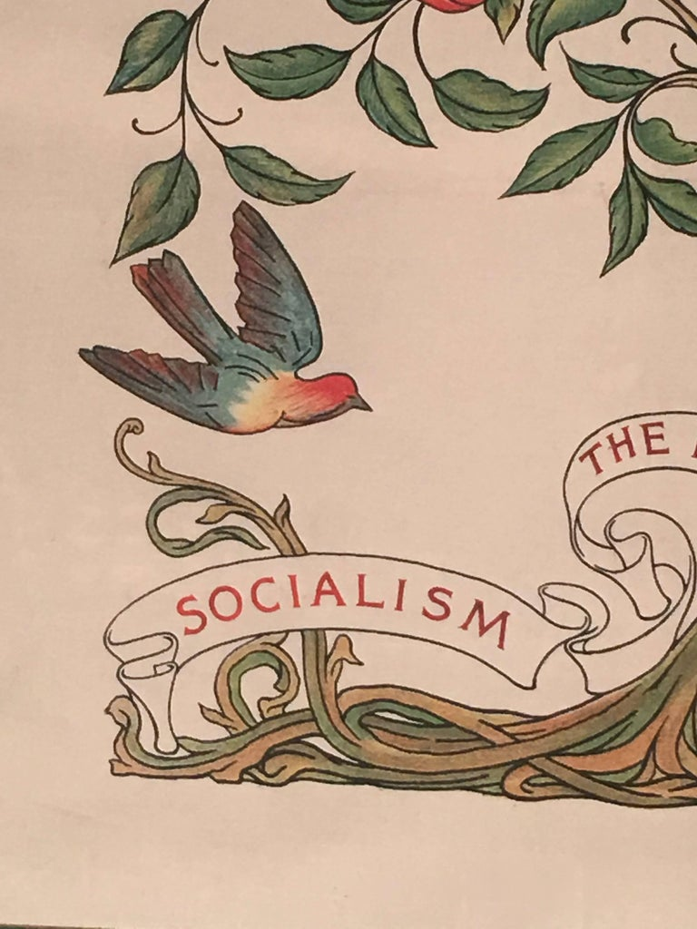 Late 19th Century Socialism is the Hope of the World Banner, English. circa 1890 For Sale