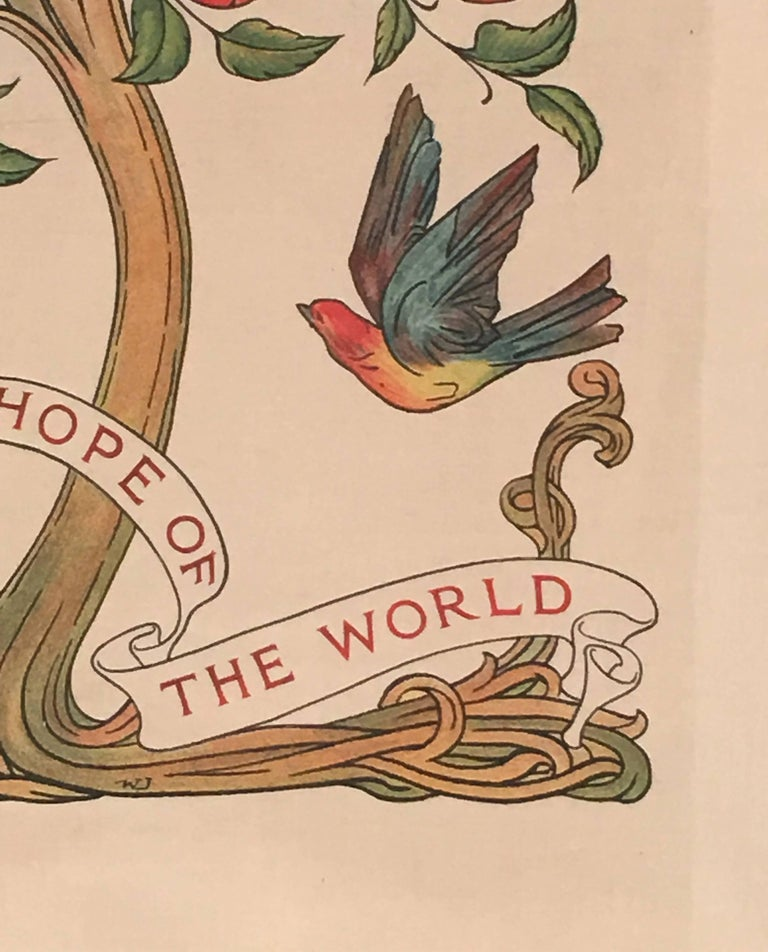 Socialism is the Hope of the World Banner, English. circa 1890 For Sale 1