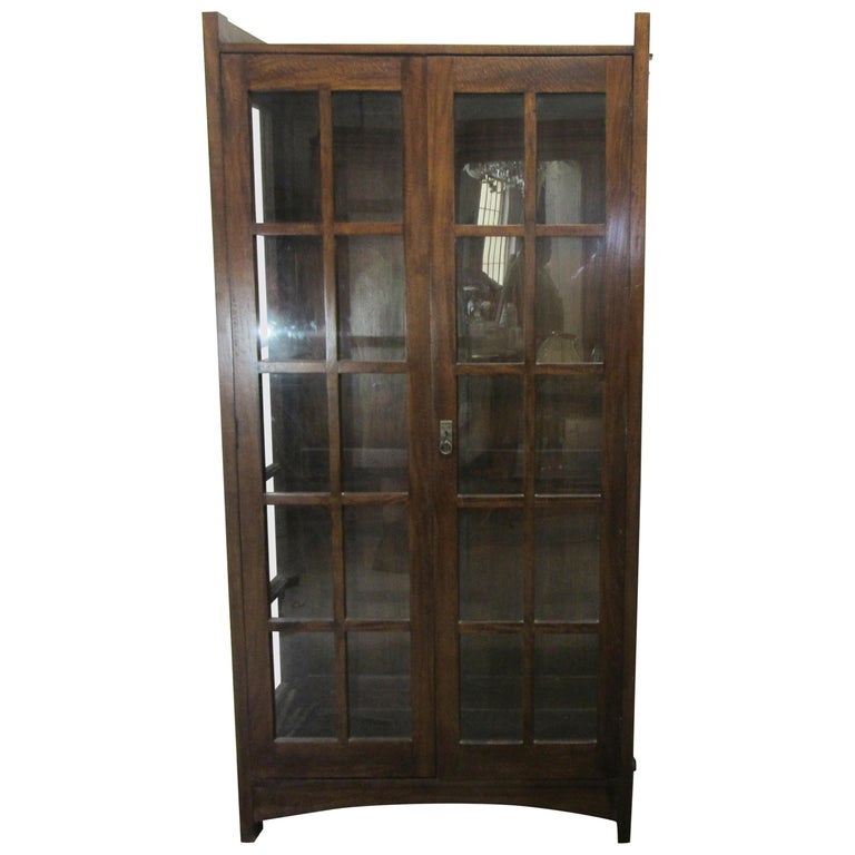 English Arts & Crafts Mahogany Bookcase For Sale