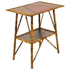 English Bamboo and Lacquer Table
