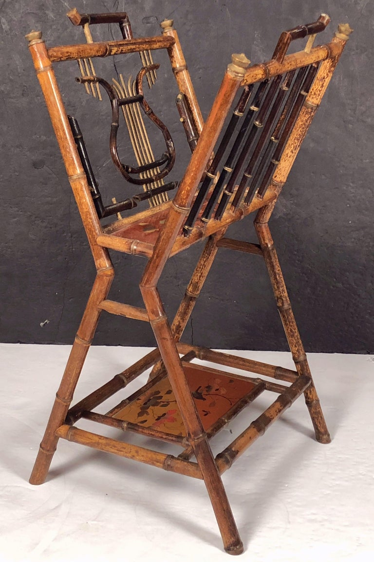 English Bamboo Canterbury Music Rack or Magazine Stand For Sale 5
