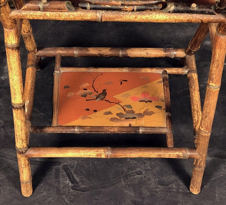 English Bamboo Canterbury Music Rack or Magazine Stand For Sale 8